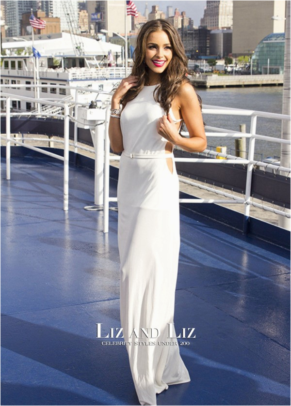 White 21st Birthday Dresses Olivia Culpo White Cut Out Prom Celebrity Dresses 21