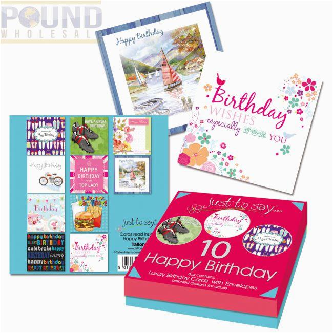 wholesale 10 adult birthday cards box pound wholesale