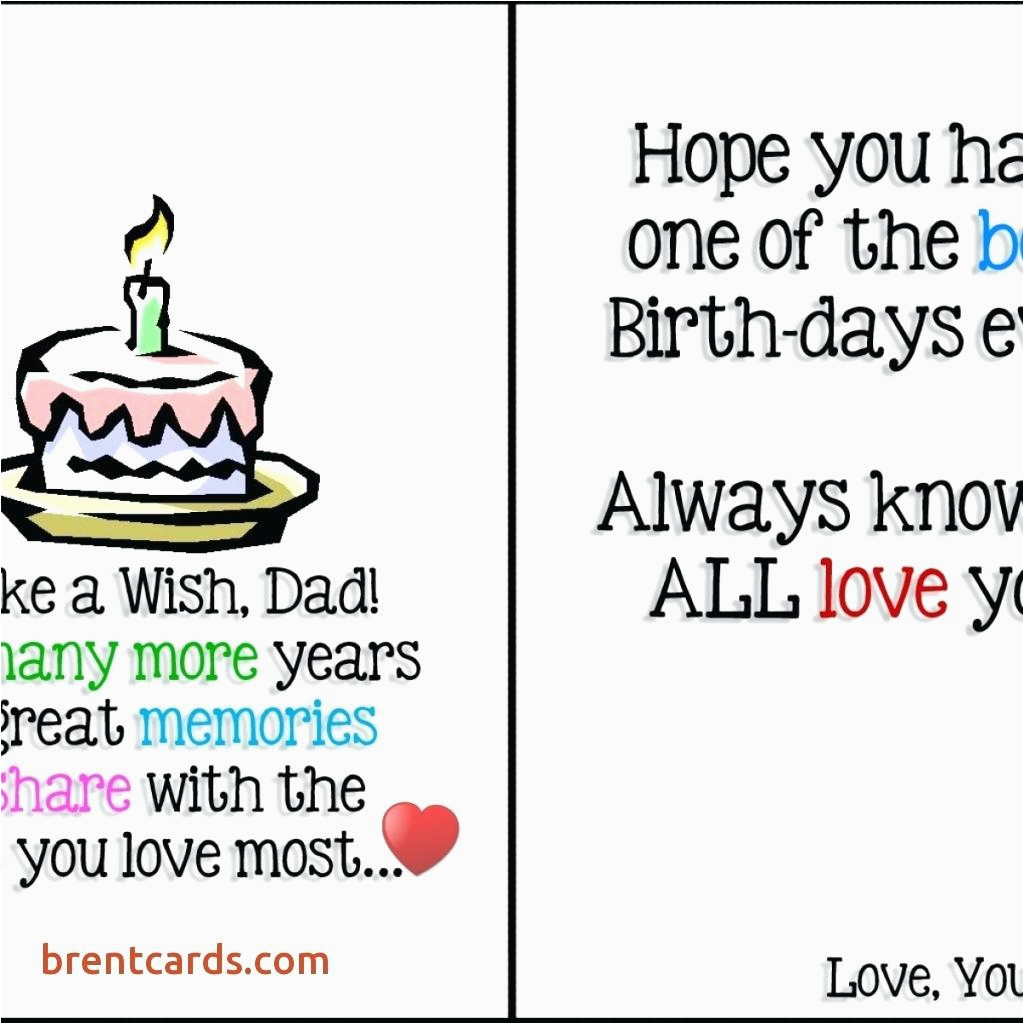 Wife Birthday Card Template For Dad