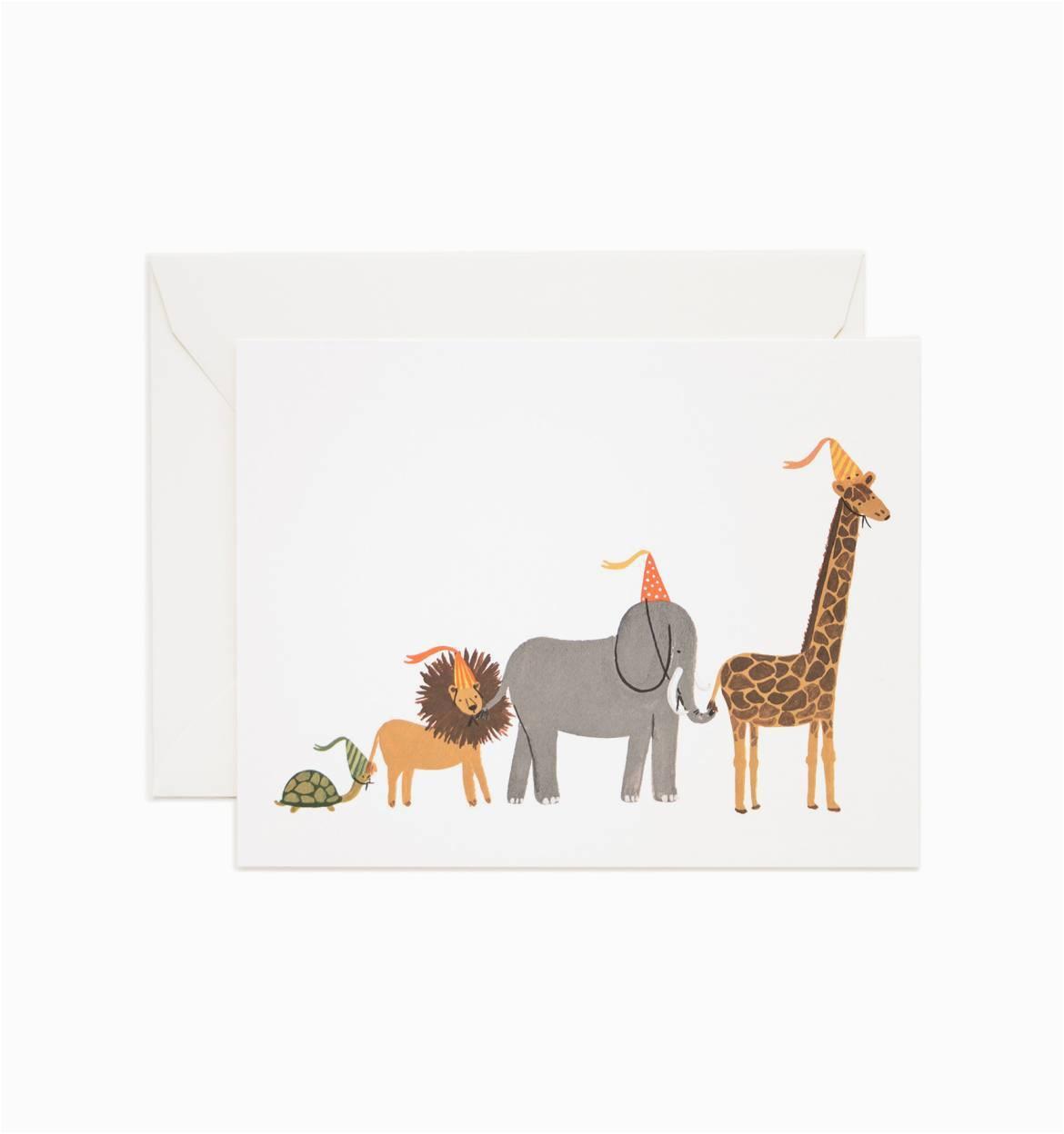 animal parade birthday card