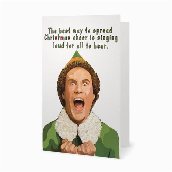 Will Ferrell Birthday Card Funny Christmas Card Elf Movie