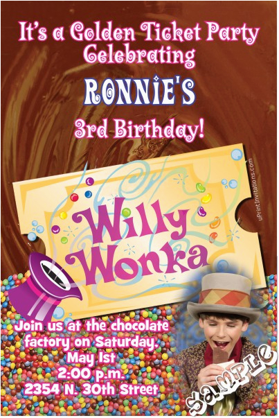 Willy Wonka Birthday Invitations Invitation