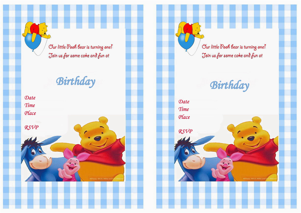 winnie the pooh birthday invitations together with a picturesque view of your birthday invitation templates using sensational invitations 15
