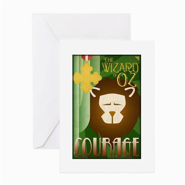 wizard of oz cowardly lion de greeting cards 10 p by