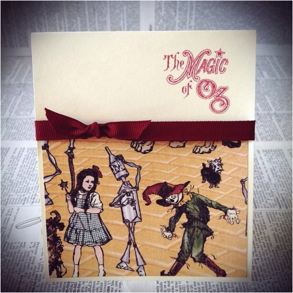 wizard of oz greeting card by timelessthings on etsy