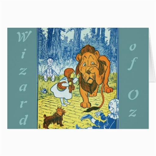 wizard of oz greeting card zazzle