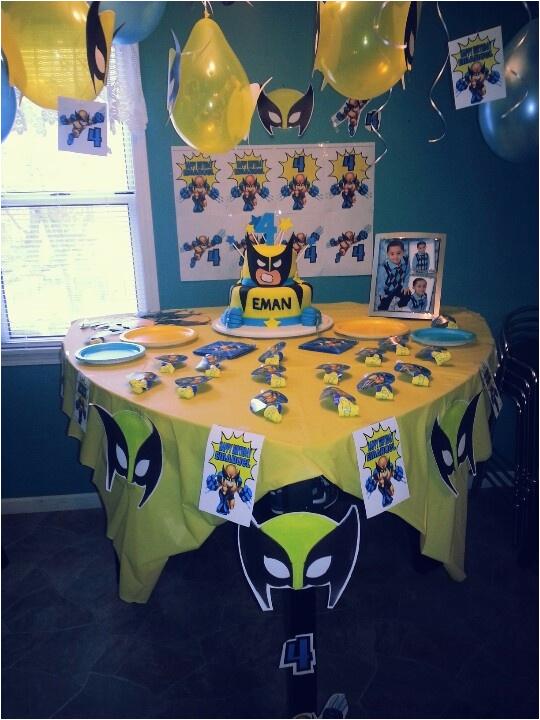 Wolverine Birthday Party Decorations Wolverine Birthday Party Bday Party Ideas Pinterest