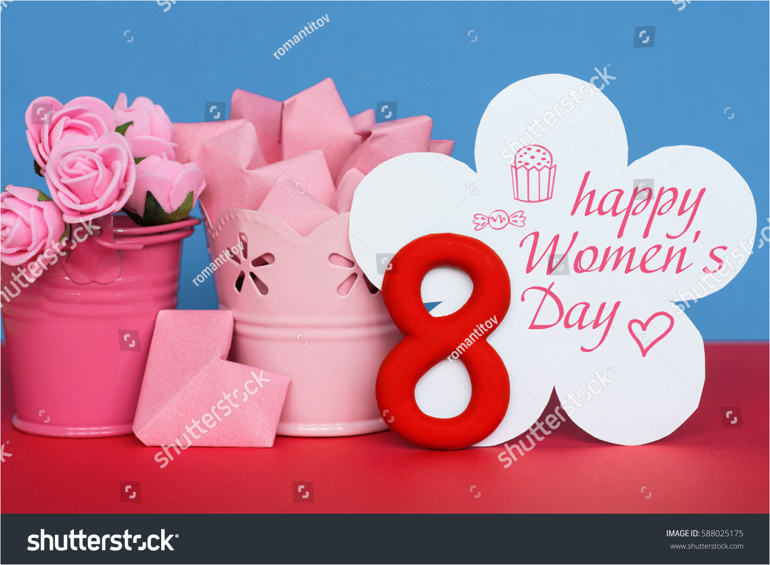 Women S Happy Birthday Card Womens Day March 8 Greeting Stock Photo 588025175