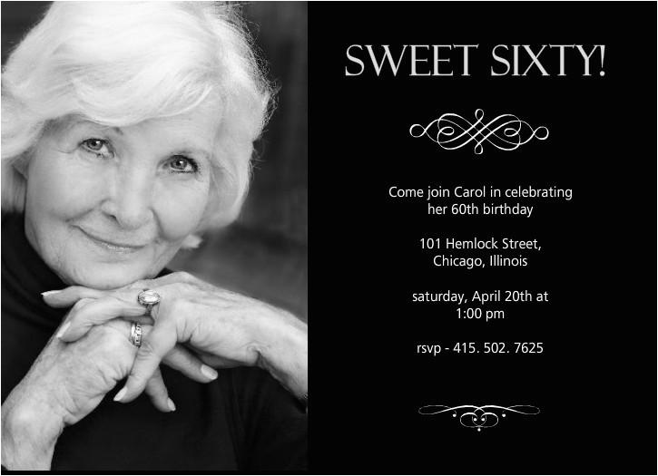 60th birthday invitations ideas