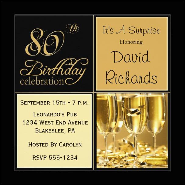 80th birthday invitations