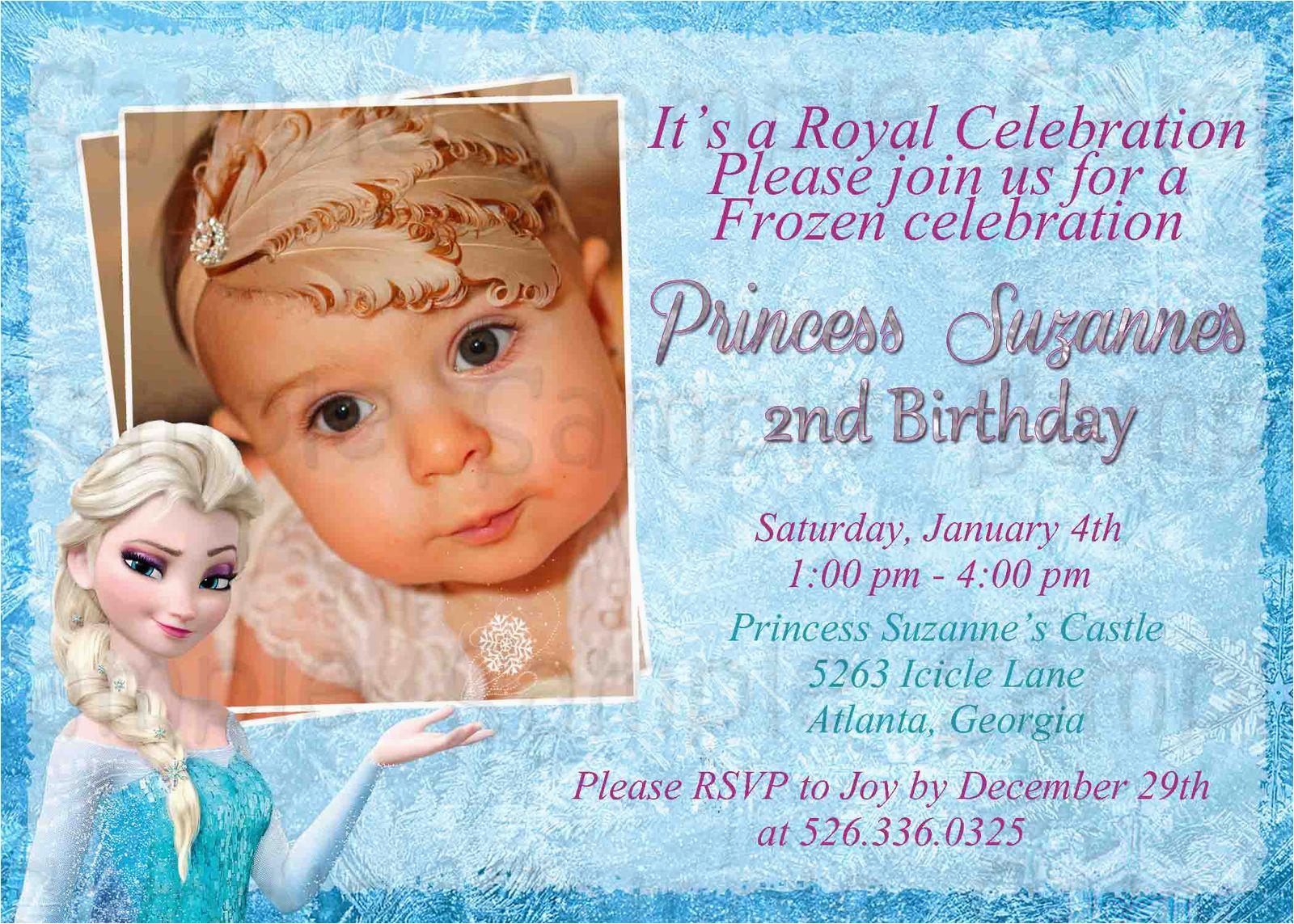 Wording For Frozen Birthday Invitations Invitation