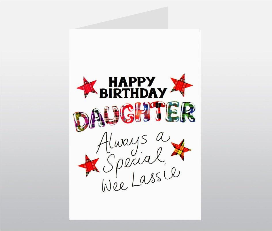 tartan words daughter birthday card wwtw04