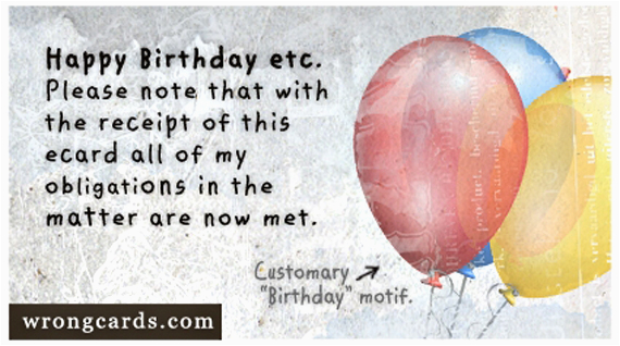 Wrong Cards Birthday 1000 Images About Birthday On Pinterest
