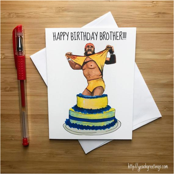 80s pro wrestling birthday card