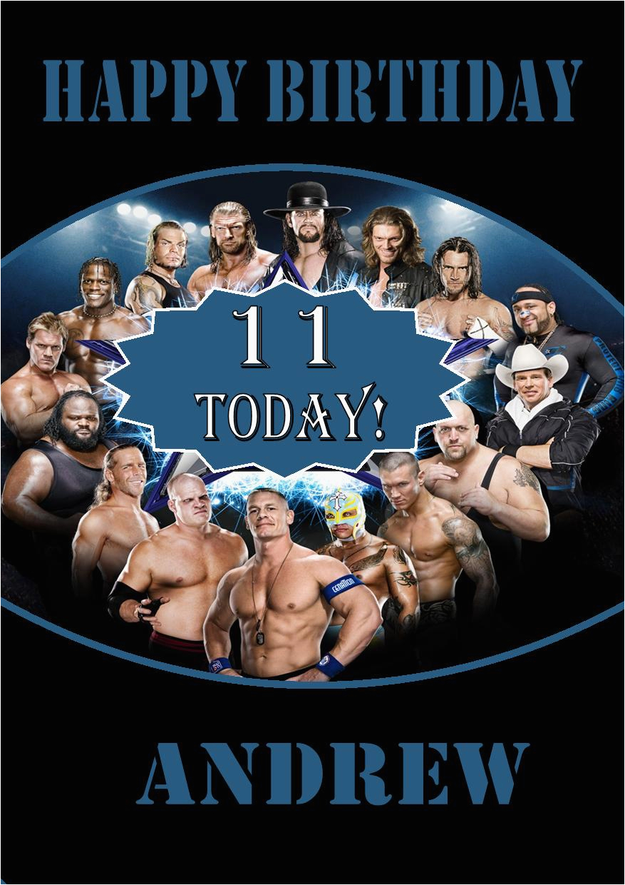 Wwe Birthday Cards Personalised Wwe Wrestlemania Birthday Card