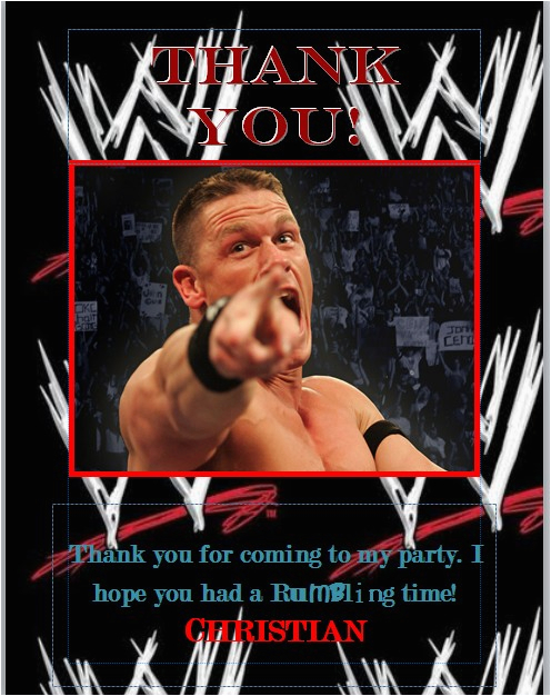 Wwe Birthday Cards Wwe Birthday Party Beauty the Boys