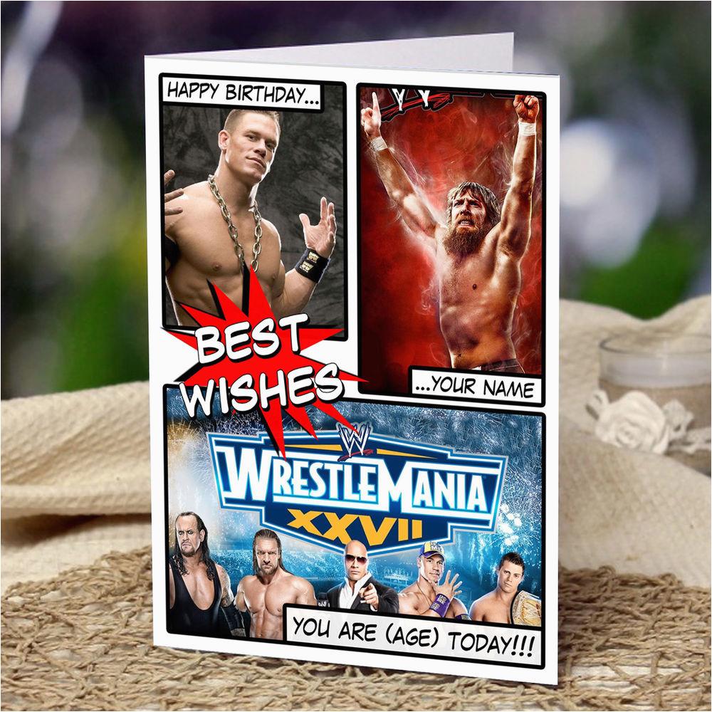 Wwe Birthday Cards Wwe Wrestlemania Personalised Birthday Card son