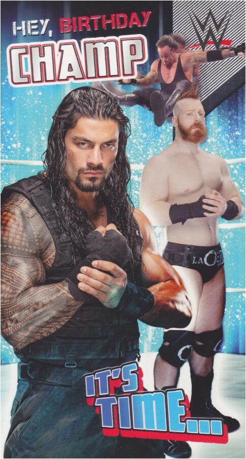 Wwe Birthday Cards Wwe Wrestling Happy Birthday Champ Card Cardspark
