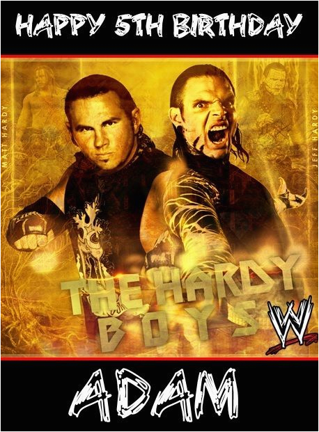 Wwe Birthday Cards Wwe Wrestling Hardy Boys Personalised Birthday Card Large