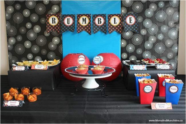 Wwe Birthday Decorations Wwe Birthday Party Ideas for Kids Moms Munchkins