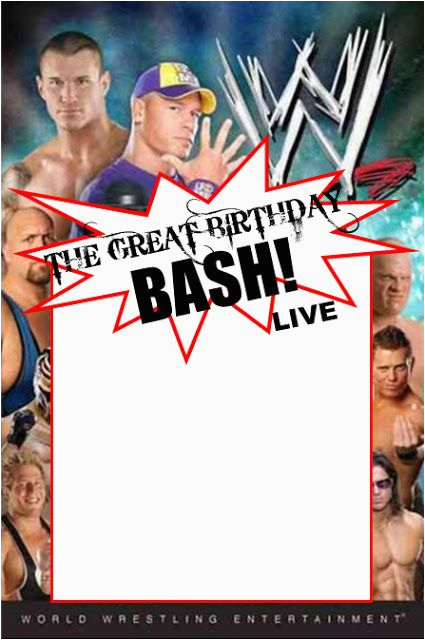 Wwe Birthday Invites Wwe Party Swimming Pool Parties and Party Invitation