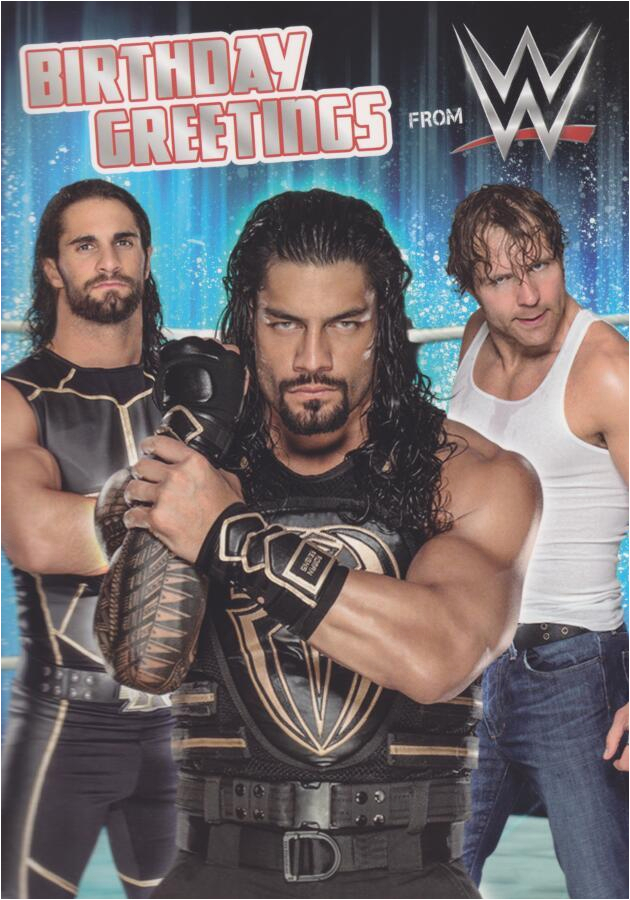 wwe wrestling birthday card sound card