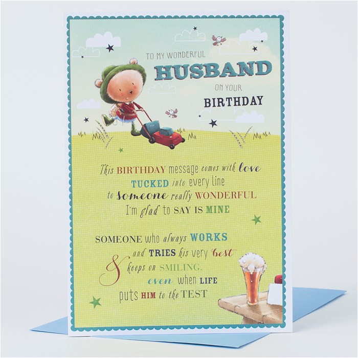 birthday card husband only 99p