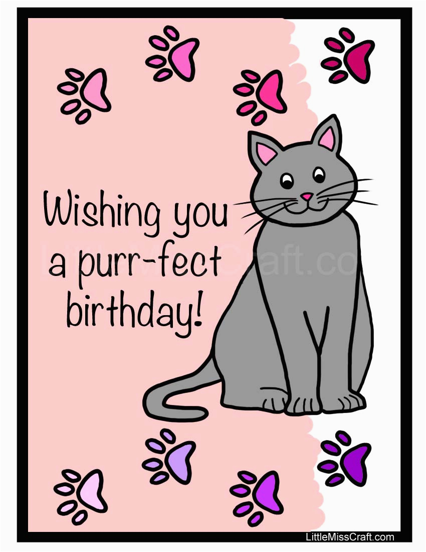 5 best images of free printable cat birthday cards cat