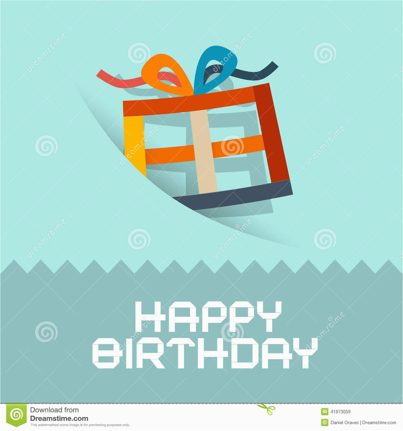 happy birthday card template stock vector illustration