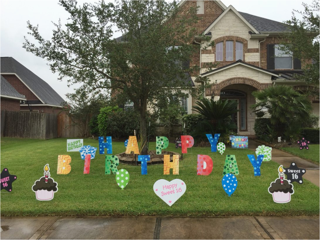 Yard Decorations For 50th Birthday Happy Quot Lawn Letters With Other Decor Signs