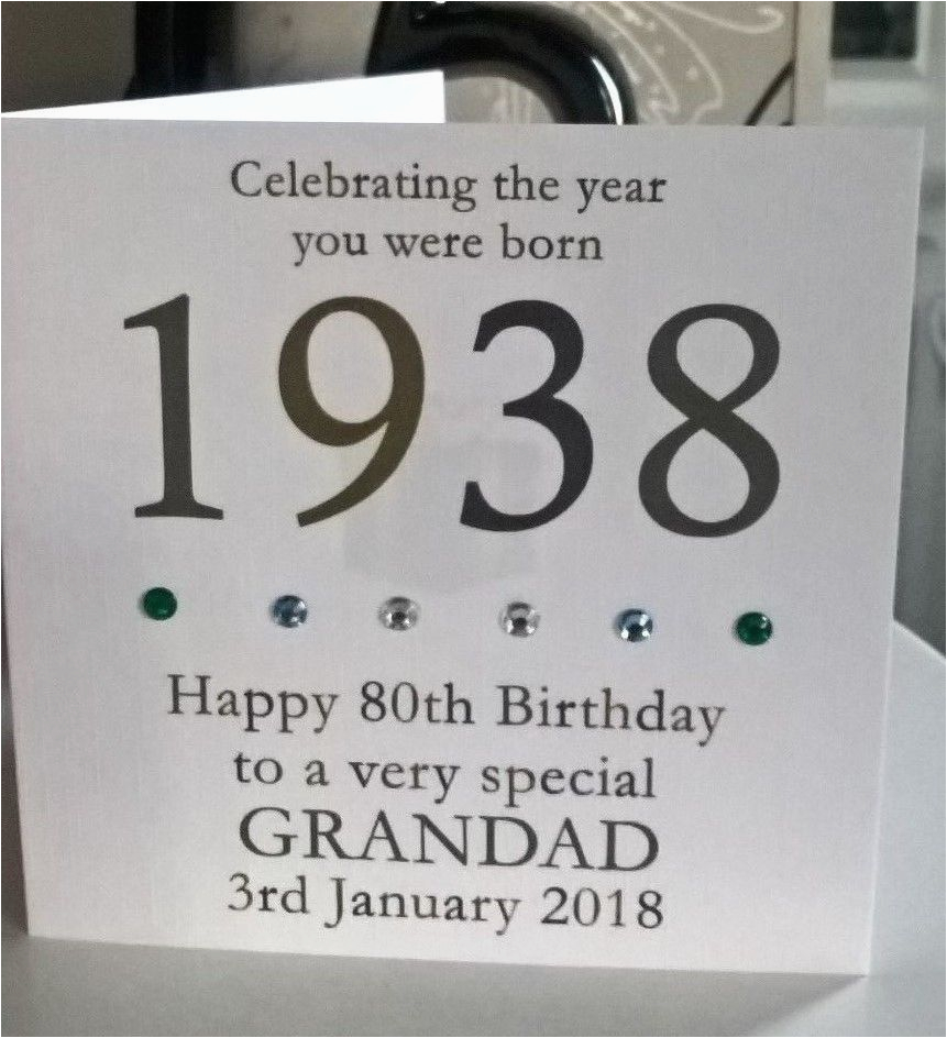 80th 1937 year you were born birthday card personalised 6