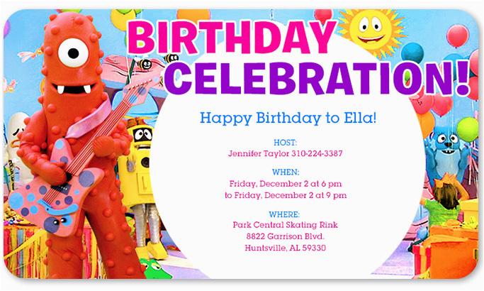 Yo Gabba Gabba Birthday Invitations Yo Gabba Gabba Birthday Invitations Free Invitation
