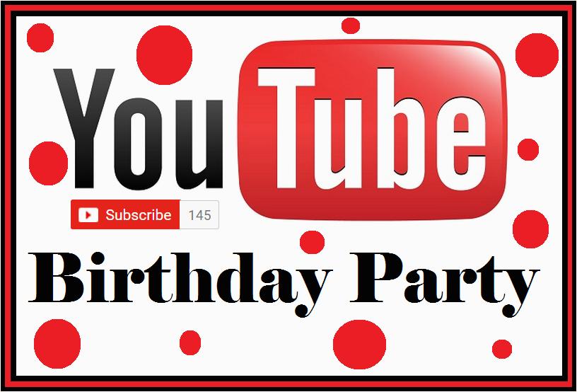 You Tube Birthday Cards Diy Birthday Blog Youtube Birthday Party Free Food Card