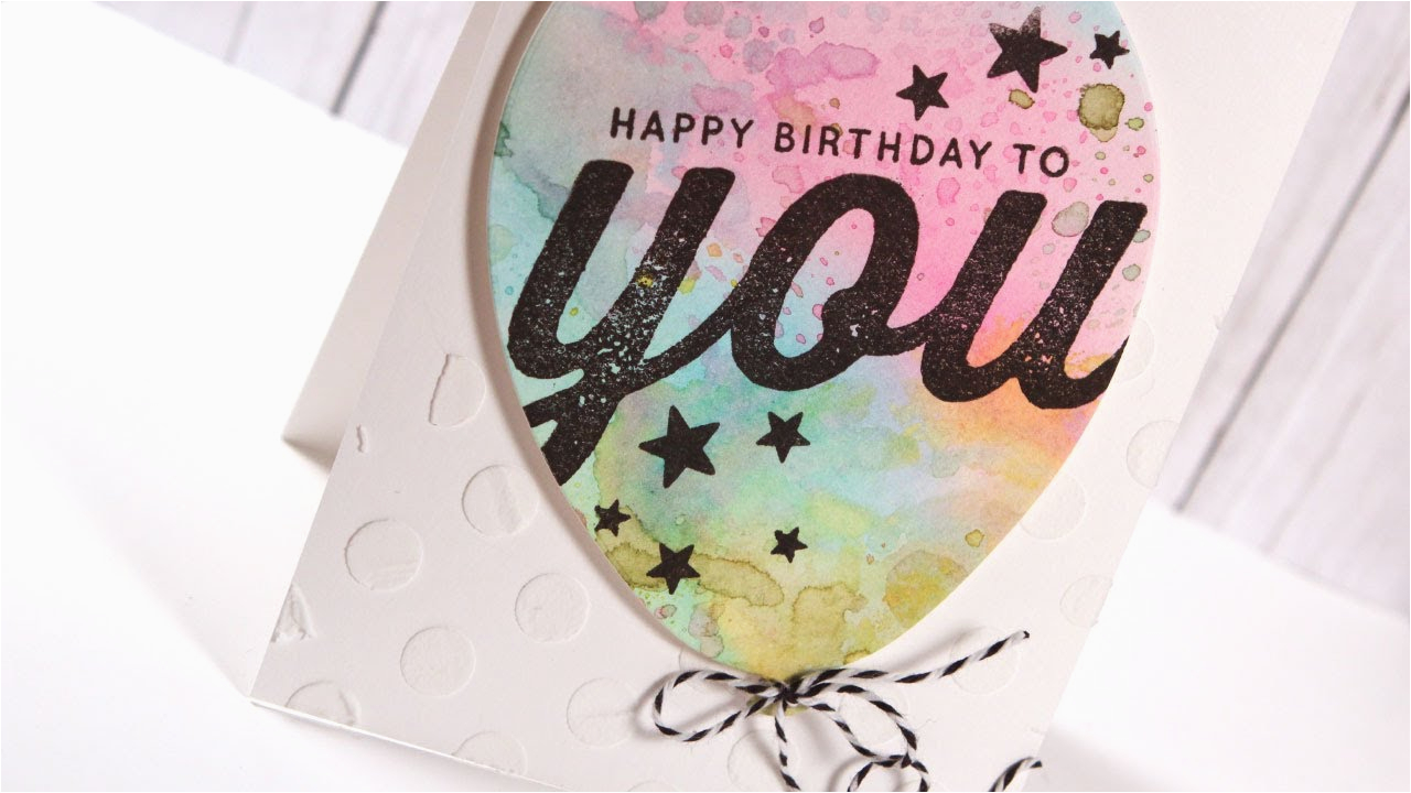 You Tube Birthday Cards Watercolor Balloon Card Youtube
