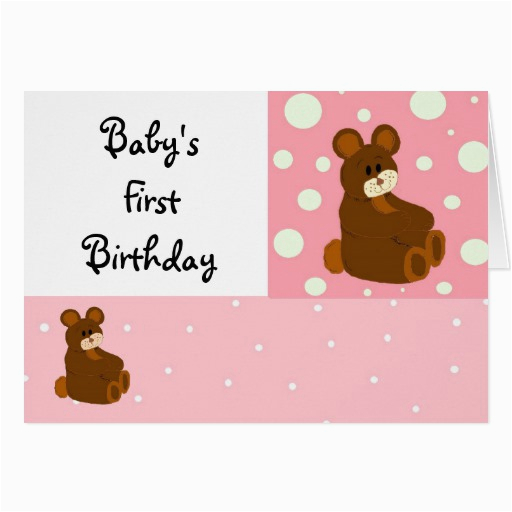 baby 39 s first birthday card zazzle