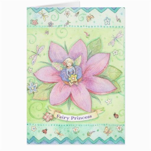 fairy princess birthday card zazzle