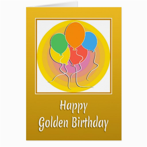 golden birthday card with balloons zazzle