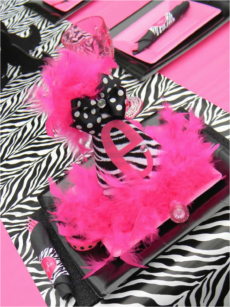 Zebra Decorations for Birthday Party Hot Pink and Zebra Print Birthday Party Ideas Photo 1 Of