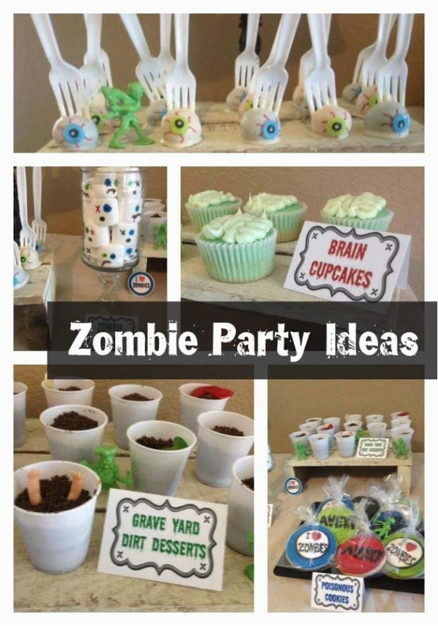 Zombie Birthday Decorations The Partying Zombies Boy S