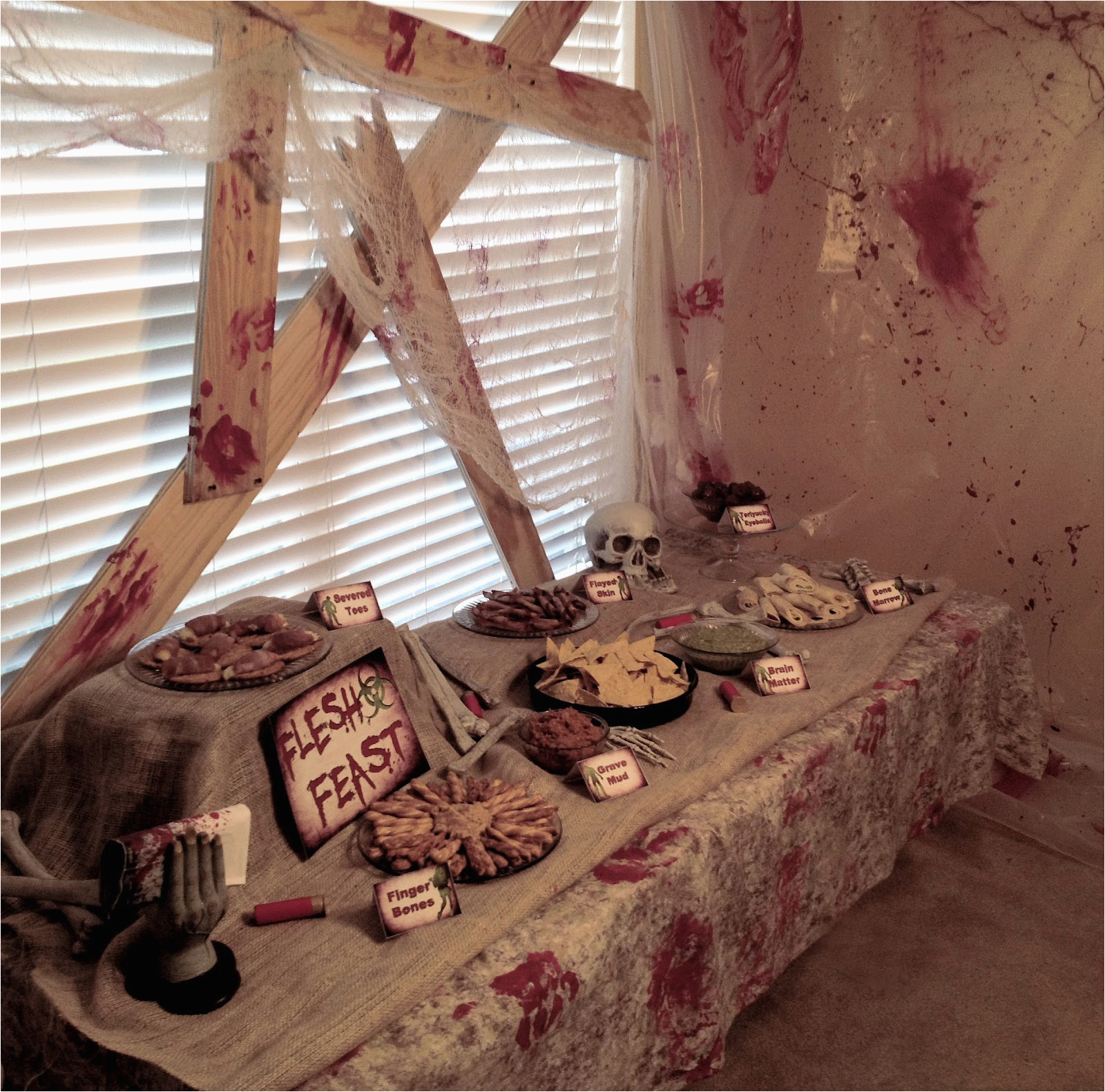 Zombie Birthday Party Decorations Real Apocalypse A Well Crafted