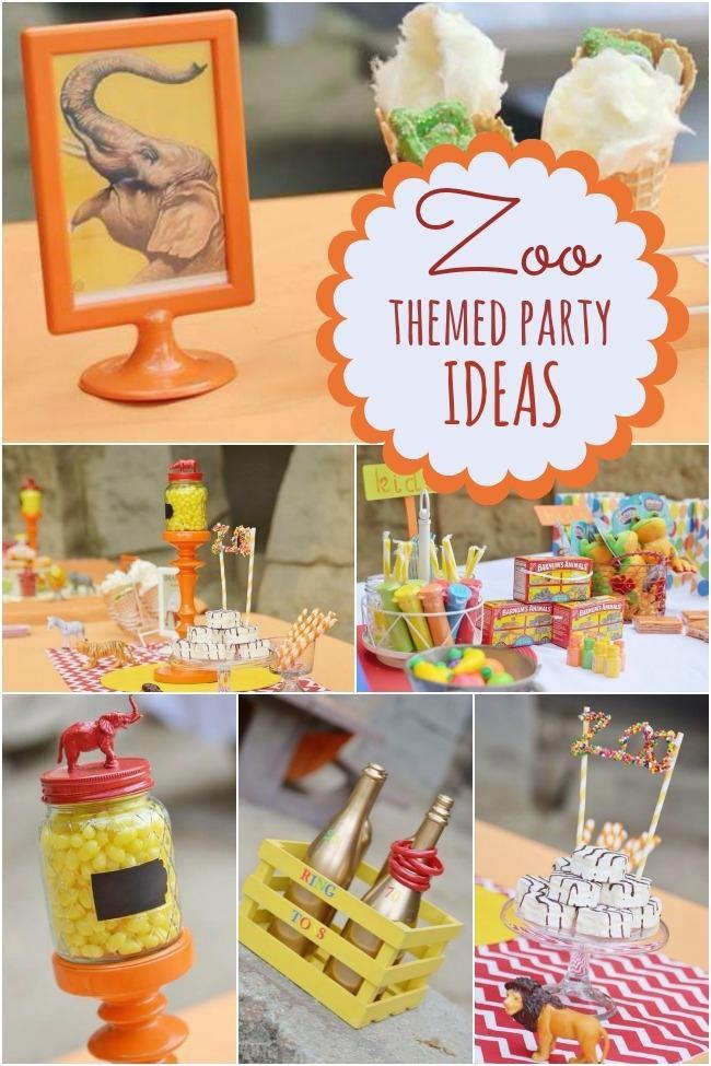 a terrific zoo themed boys birthday party