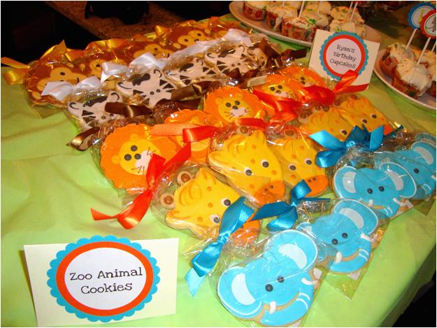 zoo animal themed birthday party