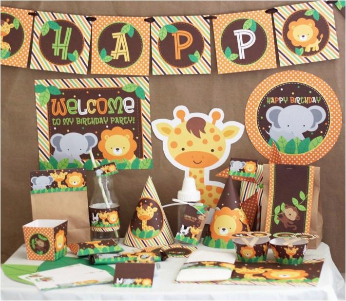 Zoo Animal Birthday Party Decorations Zoo Animal themed Birthday Party Zoo Animal