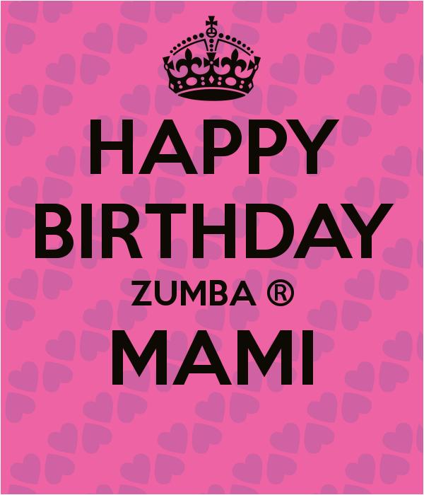 happy birthday zumba mami