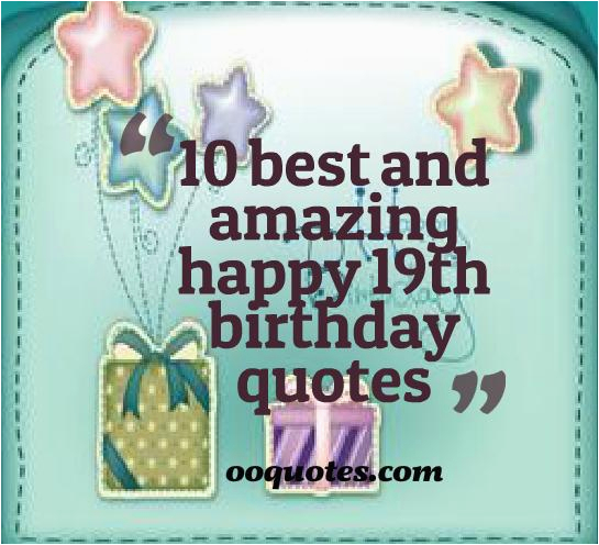 19th birthday quotes funny