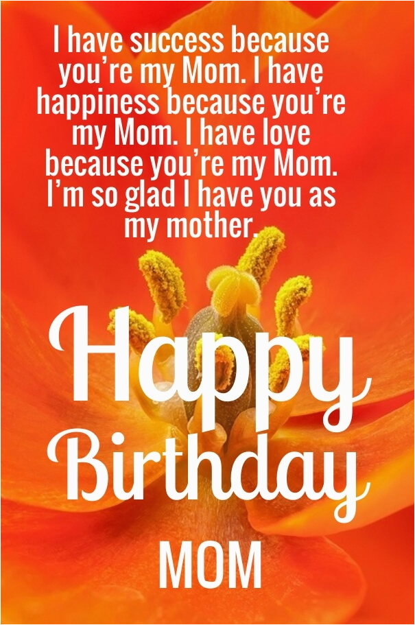 cute happy birthday mom quotes with images