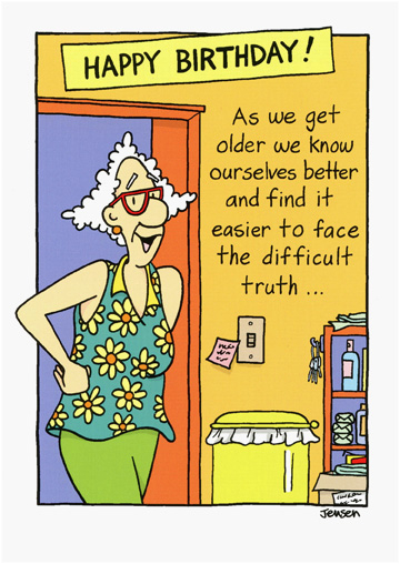 cd3784 face the difficult truth funny humorous birthday card oatmeal scott jensen