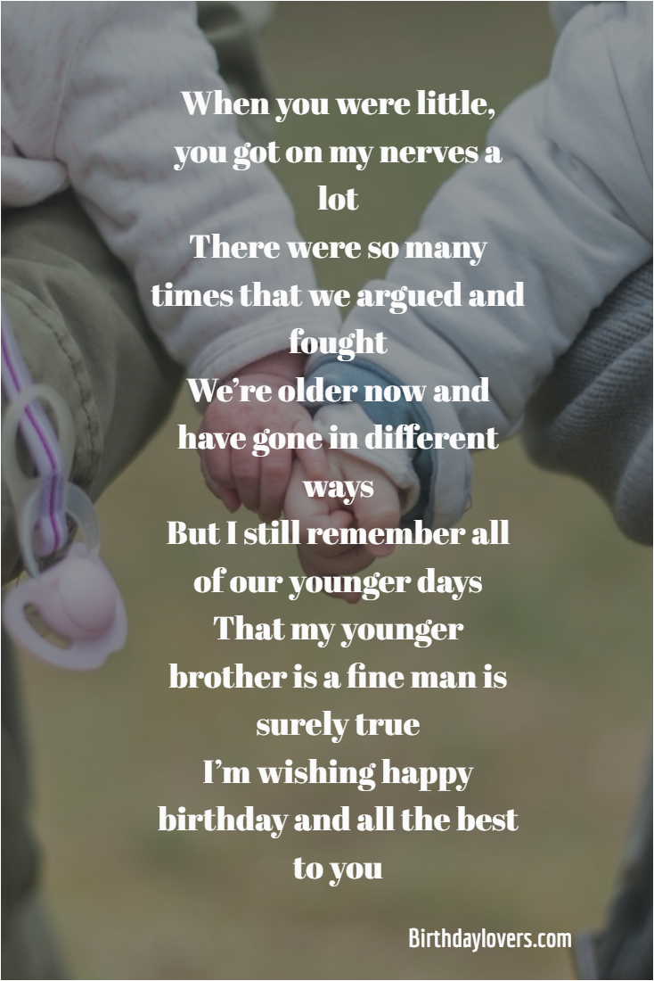 happy birthday quotes younger brother