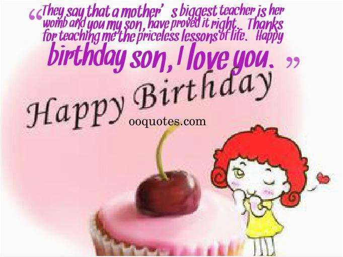 Funny Happy Birthday Quotes for My son Happy Birthday son