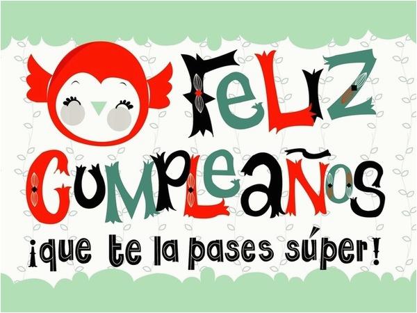 spanish happy birthday